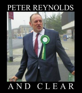 Peter Reynolds campaigning in the Corby by-election