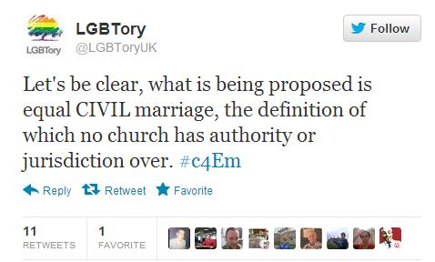 lgbtory civil marriage To LGBT Tories, with (Religious Same Sex) Love