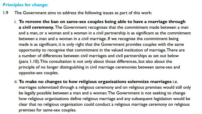 same sex marriage cosnsultation document1 To LGBT Tories, with (Religious Same Sex) Love