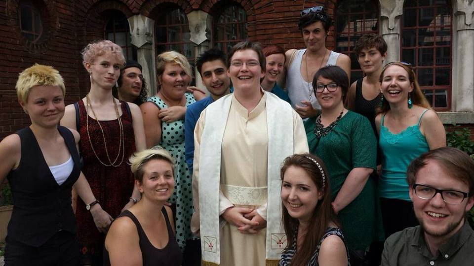 ordination photo Reverend Sarah McCulloch at your service