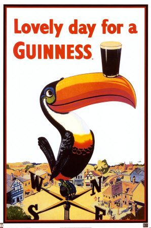 An advertising campaign for Guiness in the 1940s.