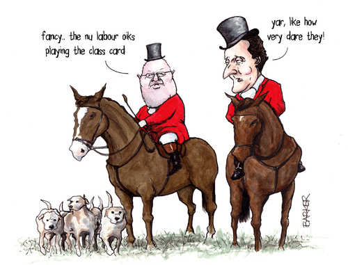 A cartoon mocking the Tories